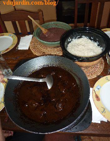 El mole negro de Oaxaca, les trois plats