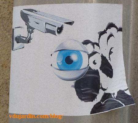Poitiers, mouton sous l'oeil de la vidéosurveillance, version horizontale
