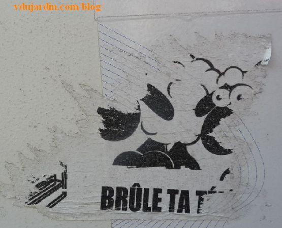 Poitiers, mouton, brûle ta télé
