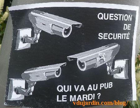 Poitiers, caméras de vidéosurveillance sans les moutons