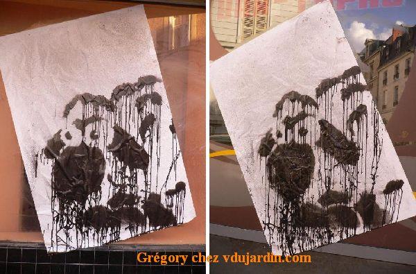 Poitiers, moutons poitevins dégoulinants en vitrine