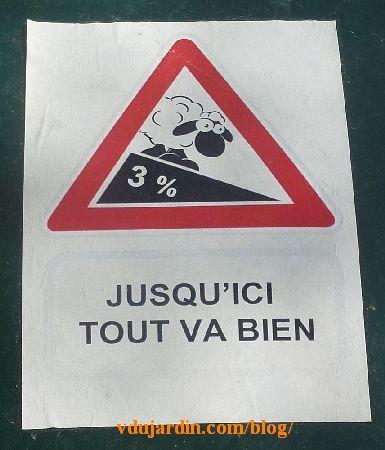Poitiers, mouton, pente à 3%