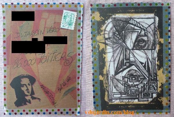 Un joli mail art de Véro bis, juillet 2014