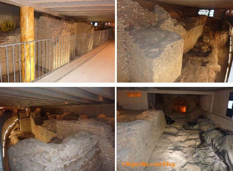 Amphithéâtre antique de Cahors dans le parking souterrain