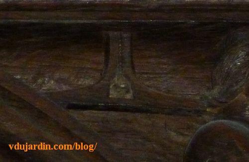 Stalles de la cathédrale de Poitiers, architecte, détail du niveau