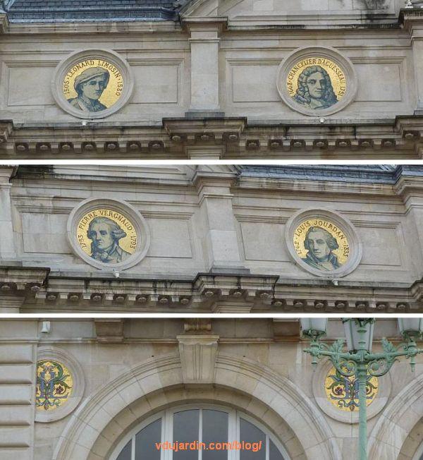 Hôtel de ville de Limoges, les mosaïques