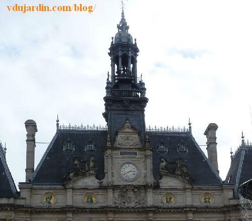 Hôtel de ville de Limoges, la toiture et le campanile
