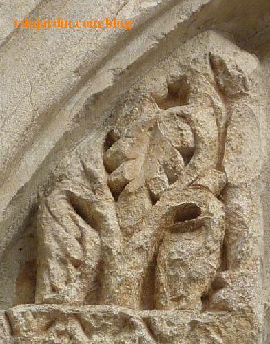Lyon, basilique Saint-Martin d'Ainay, tympan, arbre