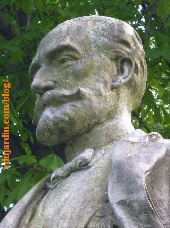 Lyon, monument à Sadi Carnot, détail de la tête