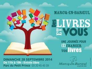 Affiche de Des livres et vous 2014 à Marcq-en-Baroeul