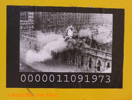 Poitiers, M. Mouton, septembre 2014, incendie de la Moneda, coup d'état du 11 septembre 1973 au Chili