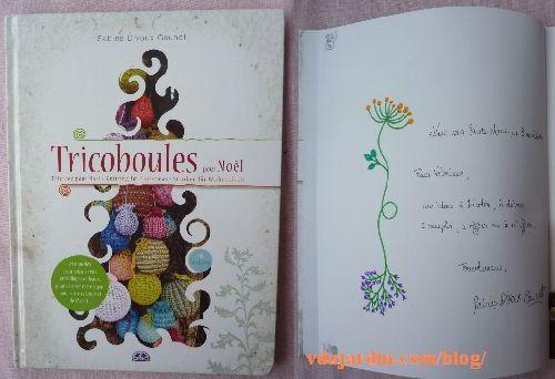 Le livre Tricoboule de Sabine  Divoux Gaunet, couverture et dédicace