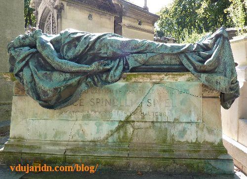 Paris, cimetière du Père-Lachaise tombe de Joseph Crocé-Spinelli et Théodore Sivel