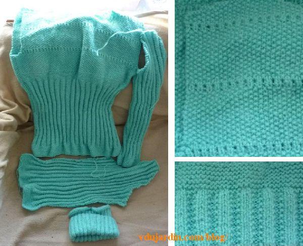 Un pullover abandonné presque terminé depuis 20 ans