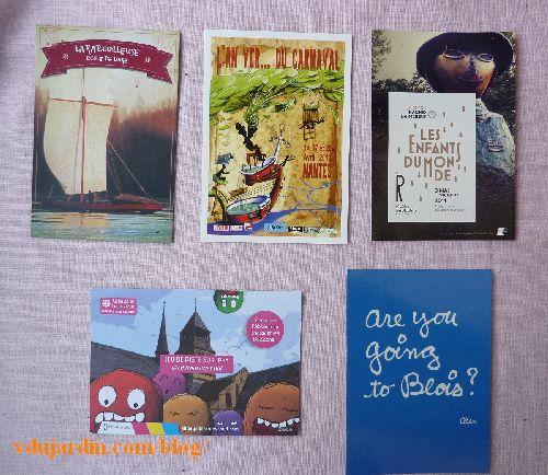 Envoi de Véro bis en août 2014, cartes à publicité