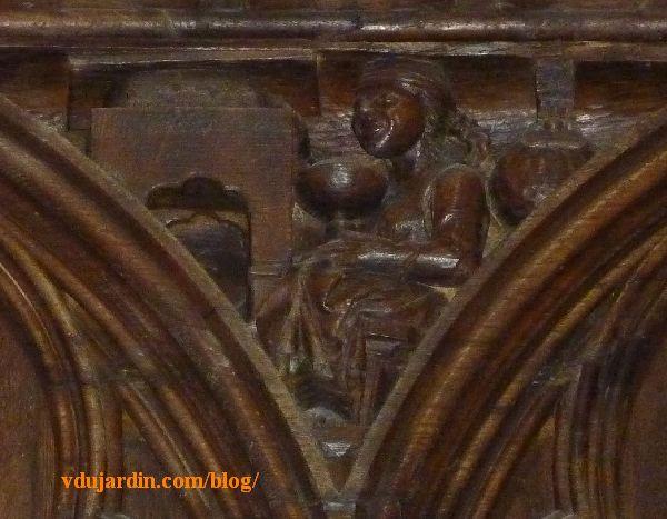 Stalles de la cathédrale de Poitiers, l'avarice