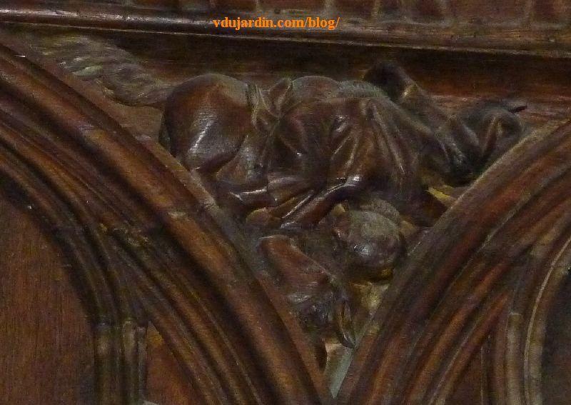 Stalles de la cathédrale de Poitiers, l'orgueil