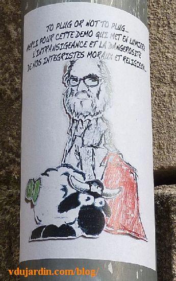 Mouton avec un plug anal vert face à Paul McCarthy