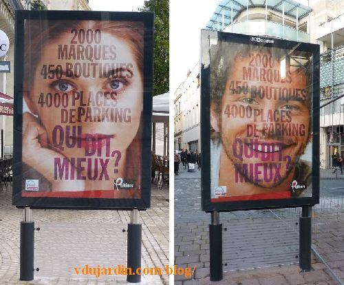 Campagne de publicité à Poitiers, novembre 2014