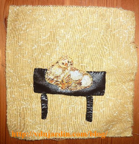 Haricot magique, la table de l'ogre avec son poussin