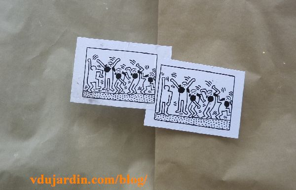 Moutons poitevins dansants à la façon de Keith Haring