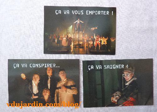 Cartes à publicité pour Henry VI de Shakespeare mis en scène par Thomas Jolly