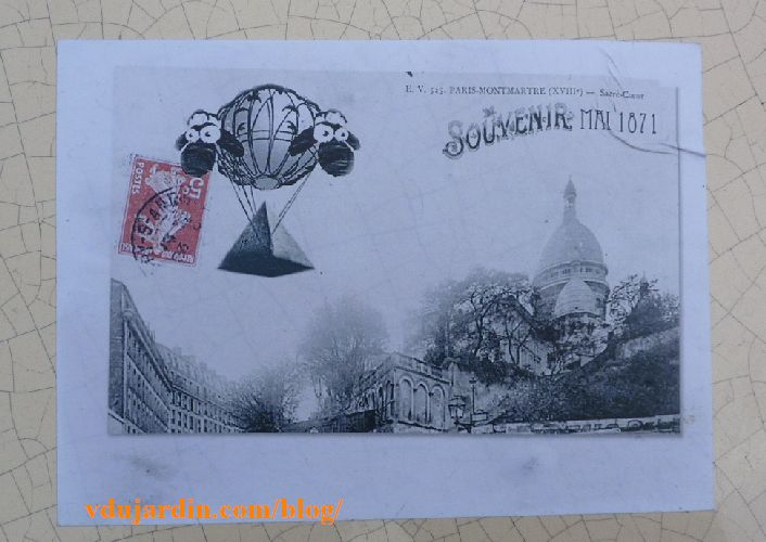 Moutons en ballon, souvenir de Paris mai 1871