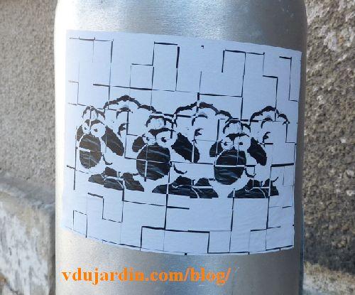Moutons dans des quadrillages