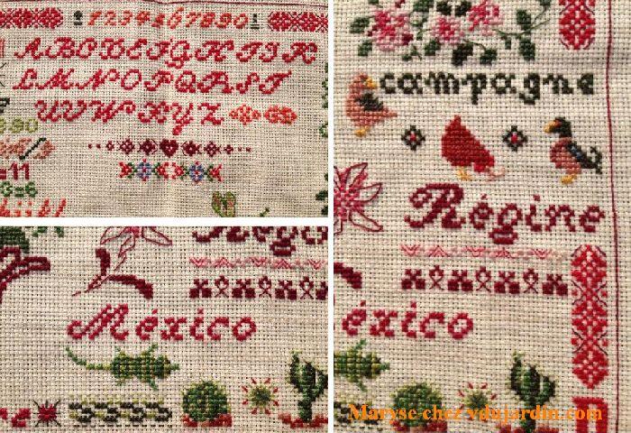 Nans 2015, marquoir de Maryse, alphabet, Mexico