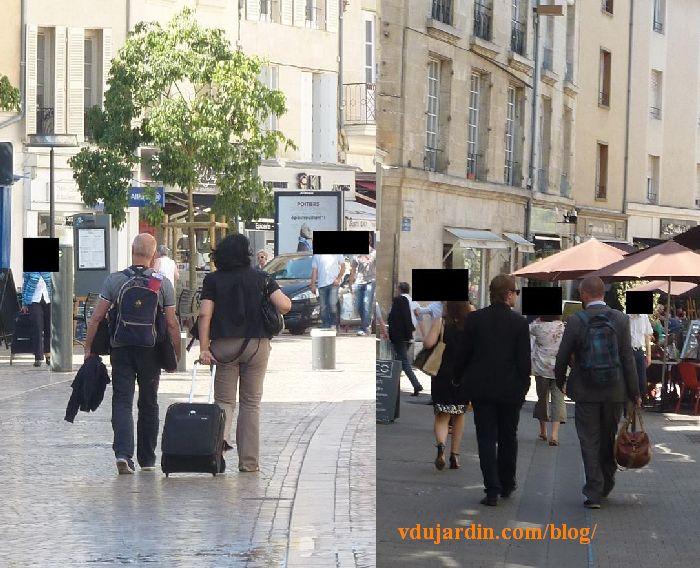 Congrès du PS à Poitiers, 5 juin 2015, militants en centre-ville, vestes par 30° à l'ombre
