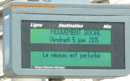 Congrès du PS à Poitiers, 5 juin 2015, grève des bus