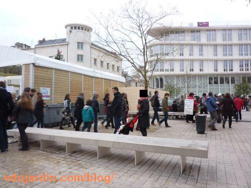 les anti-COP'21 autour de la patinoire, Poitiers, 29 novembre 2015