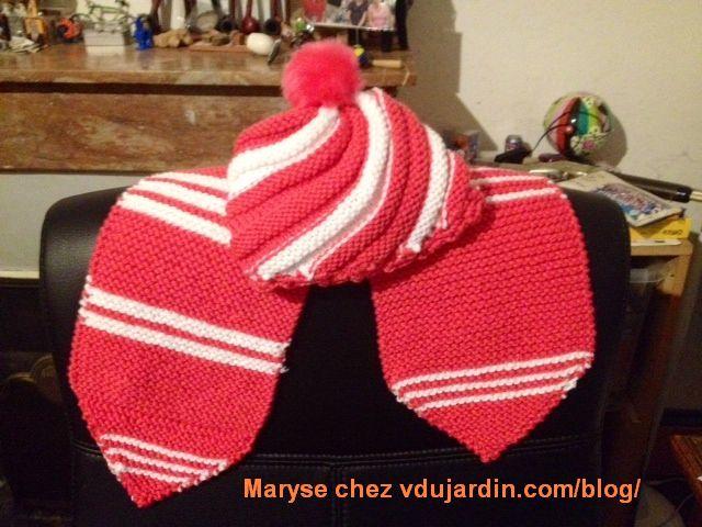 Bonnet et écharpe de Maryse (layette)
