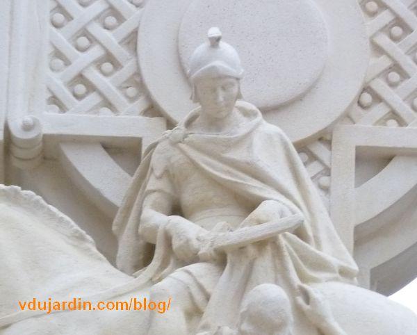 Charité de saint Martin par Varenne à Tours, détail de saint Martin
