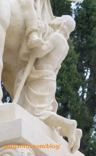 Charité de saint Martin par Varenne à Tours, détail de l'infirme vu de trois quarts