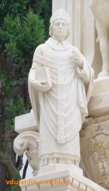 Charité de saint Martin par Varenne à Tours, détail de saint Perpet