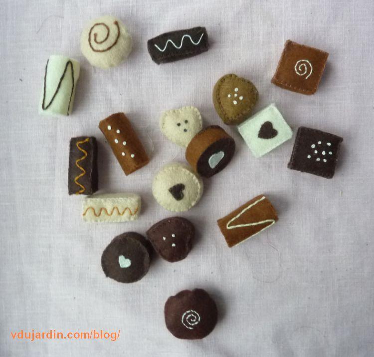 Chocolats en feutrine