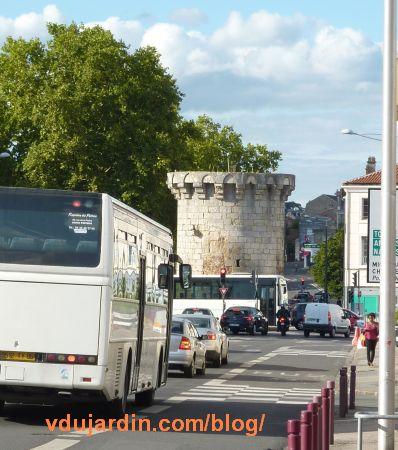 Poitiers, blocage de la porte de Paris le 3 septembre 2015 à 17h45