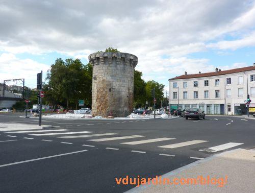 Poitiers, porte de Paris, travaux en cours début septembre 2015
