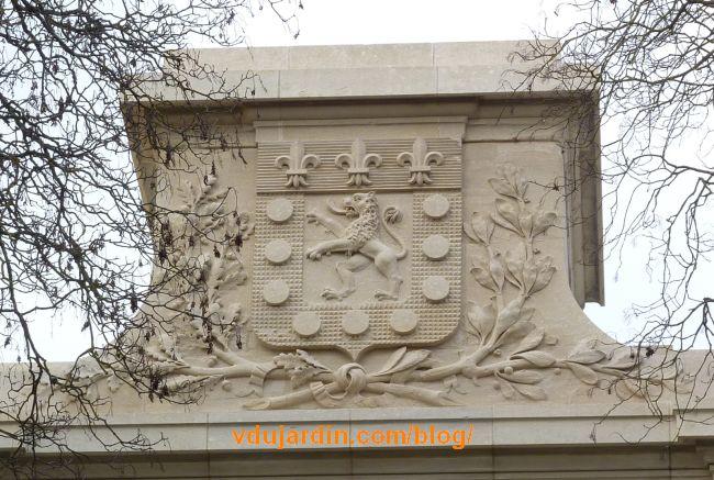 Château d'eau de Blossac à Poitiers, les armoiries de la ville
