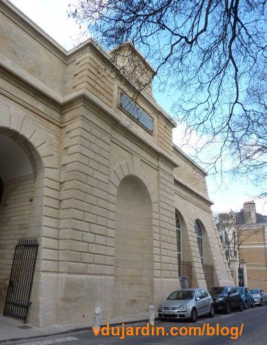 Le château d'eau de Blossac à Poitiers, partie centrale de la façade