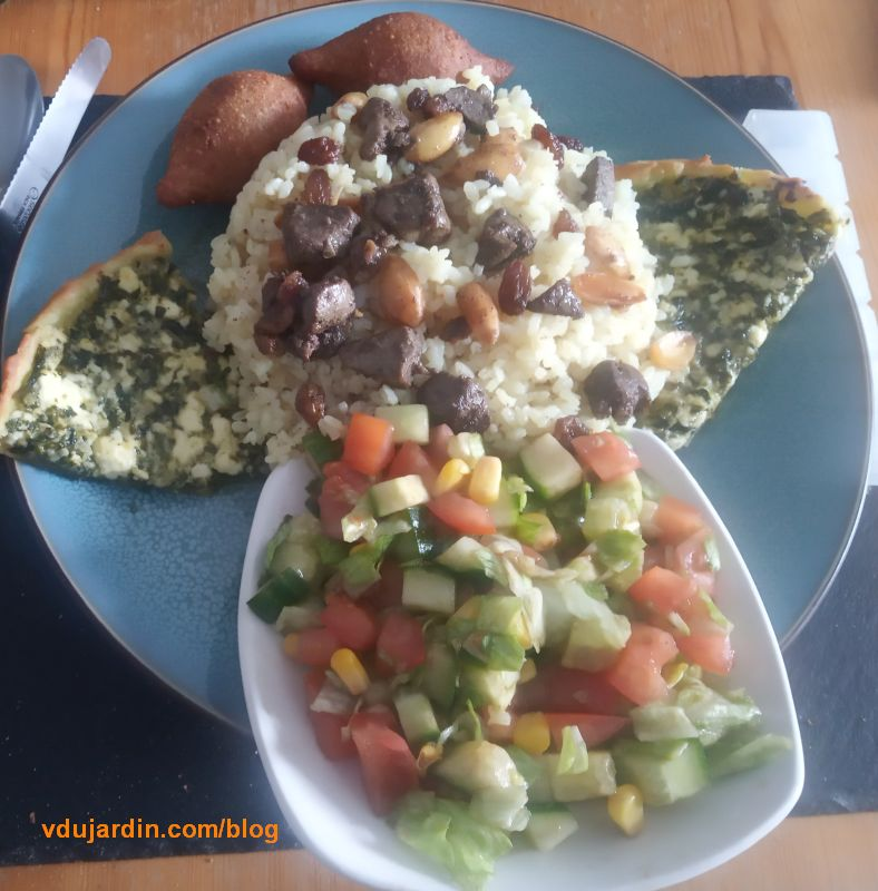 L'un des plats préparé par ma voisine libyenne