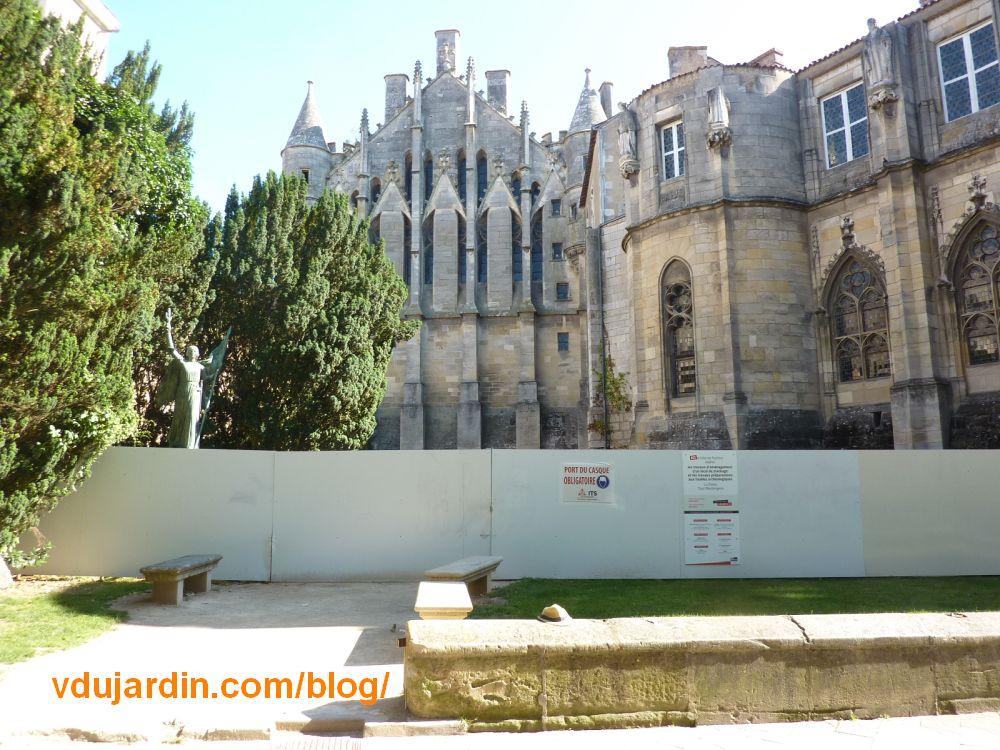 Le square Jeanne-d'Arc à Poitiers en travaux, juin 2021