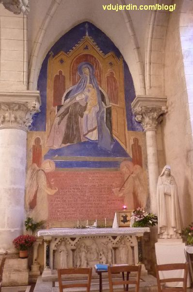 Poitiers, église Sainte-Thérèse, autel sud des ateliers de Saint-Hilaire, vue générale