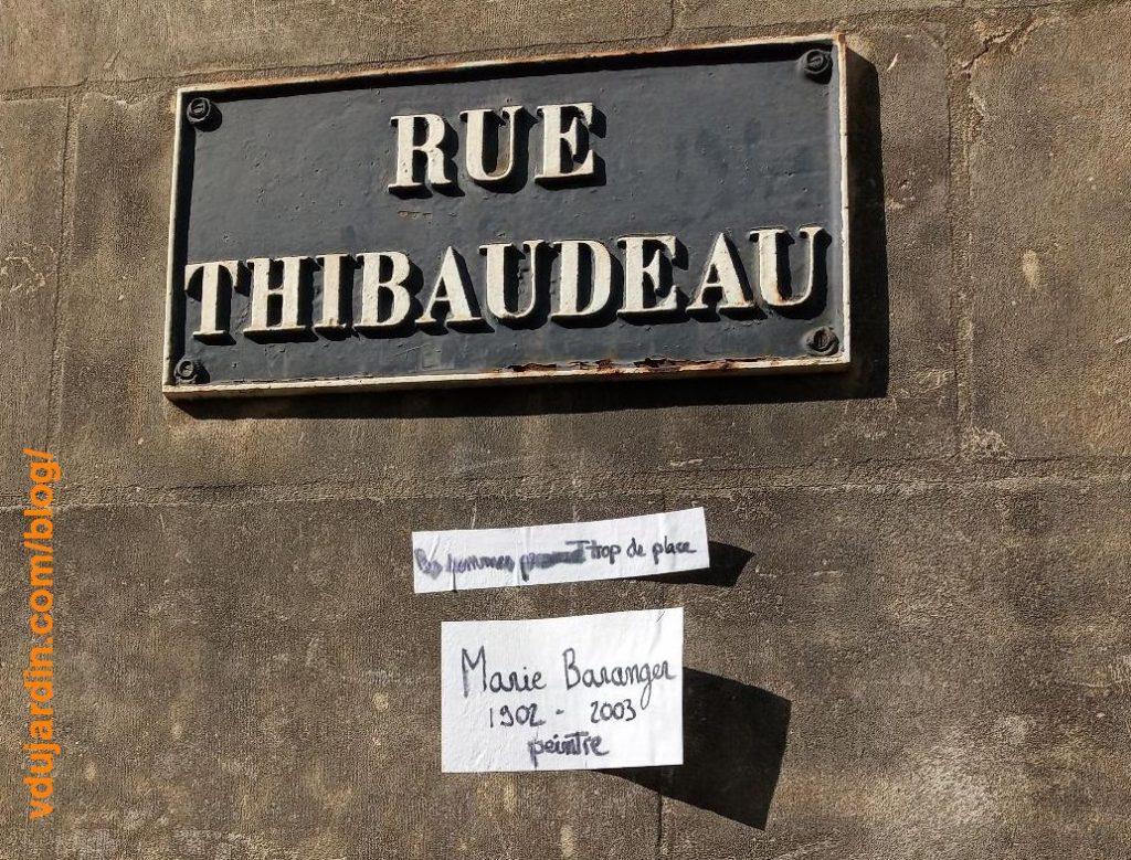Citation de Marie Baranger rue Thibaudeau à Poitiers