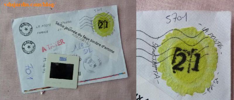 timbres d'artiste 2014, l'envoi de Véro bis
